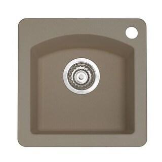 "Blanco 441295 Diamond Silgranit II Drop In or Undermount Single Basin Bar Sink 15"" x 15"""