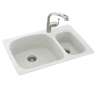 "Swanstone KSLS-3322 Double Basin 33"" x 22"" Kitchen Sink with Large and Small Bowl"