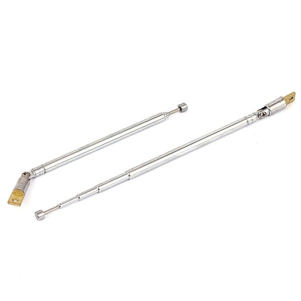 2pcs 38cm Rotated 360 Degree 5 Sections Telescopic Antenna Mast for FM AM Radio