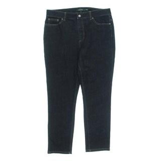 Lauren Ralph Lauren Womens Cropped Jeans Solid Classic Rise