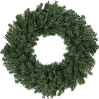"36"" Canadian Pine Artificial Christmas Wreath - Unlit - green"