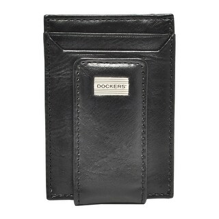 Dockers Men's Leather Front Pocket Card Case Wallet with Magnetic Money Clip - One size