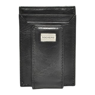 Dockers Men's Leather Front Pocket Card Case Wallet with Magnetic Money Clip - One size (2 options available)