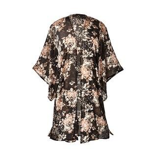 Women's Fashion Jacket - Vintage Rose Kimono Duster