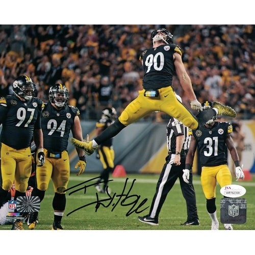 dc4064c5a Shop TJ Watt Autographed Pittsburgh Steelers 8x10 Photo Jumping JSA - Free  Shipping Today - Overstock - 19547404
