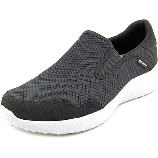 Skechers Burst - Just In Time Men Round Toe Synthetic Black Walking Shoe