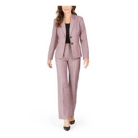 LE SUIT Purple Blazer Straight leg Pant Suit 6