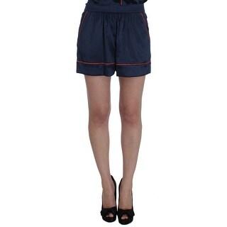 Dolce & Gabbana Dolce & Gabbana Blue Silk Stretch Sleepwear Shorts