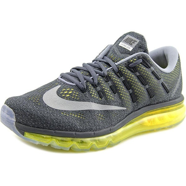 Nike Air Max 2016 Men Round Toe Synthetic Gray Running Shoe