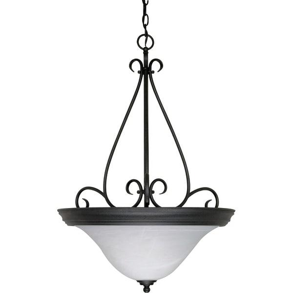 "Nuvo Lighting 60/385 3-Light 20-1/2"" Wide Pendant - Textured Black"