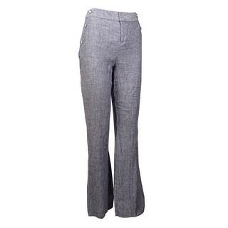 INC International Concepts Women's Linen Regular Wide Leg Pants