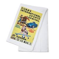 Cuba Sports Carnival (Rivadulla) Vintage Ad (100% Cotton Towel Absorbent)