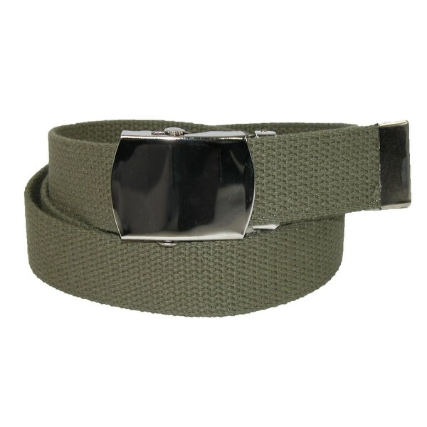 CTM® Big & Tall Cotton Adjustable Belt with Nickel Buckle