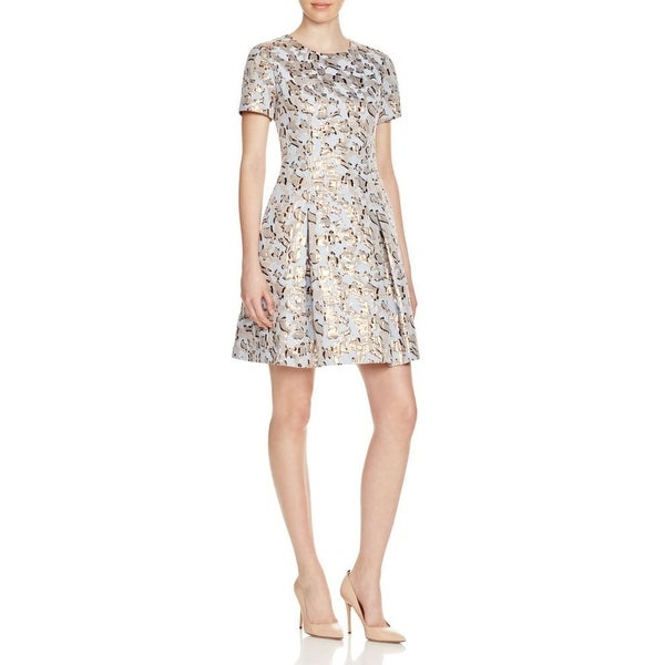 Shop Vince Camuto New Blue Women S Size 6 Pleated Jacquard