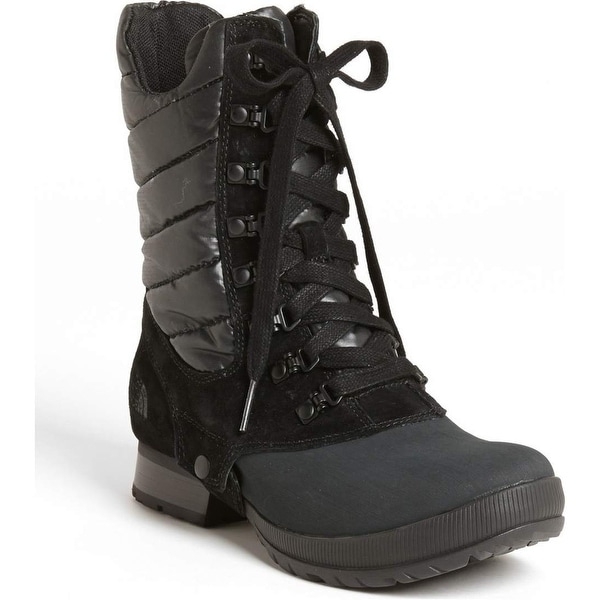 The North Face NEW Black Shoes Size 5M Mid-Calf Suede Boots