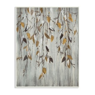 Link to Stupell Industries Rustic Forest Vine Landscape Brown Grey Country Painting Wood Wall Art Similar Items in Wood Wall Art