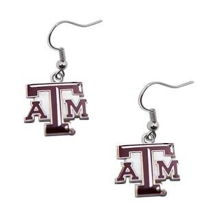 Texas A And M Aggies Dangle Logo Earring Set NCAA Charm Gift