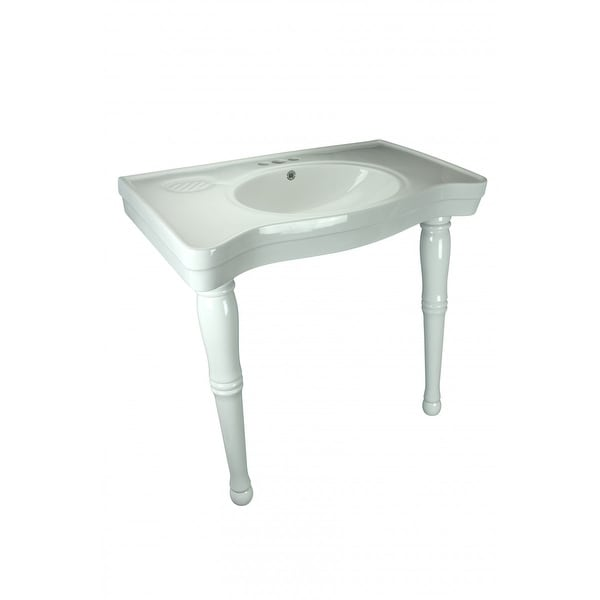 Bathroom Console Sink Basin Only White China Belle Epoque | Renovatoru0026#x27  ...