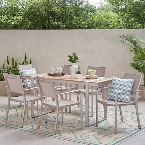 Colfax Outdoor Aluminum Outdoor 7 Piece Dining Set by Christopher Knight Home