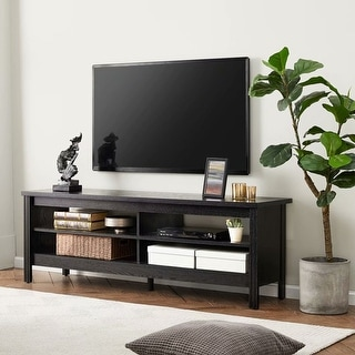 TV Stand for 65 inch TV Entertainment Center,Black-60 inch - 65 inches (65 inches - Black) -  WAMPAT