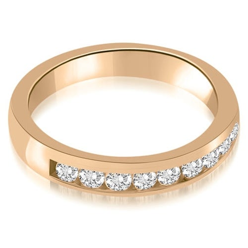 0.63 cttw. 14K Rose Gold Classic Channel Round Cut Diamond Wedding Band