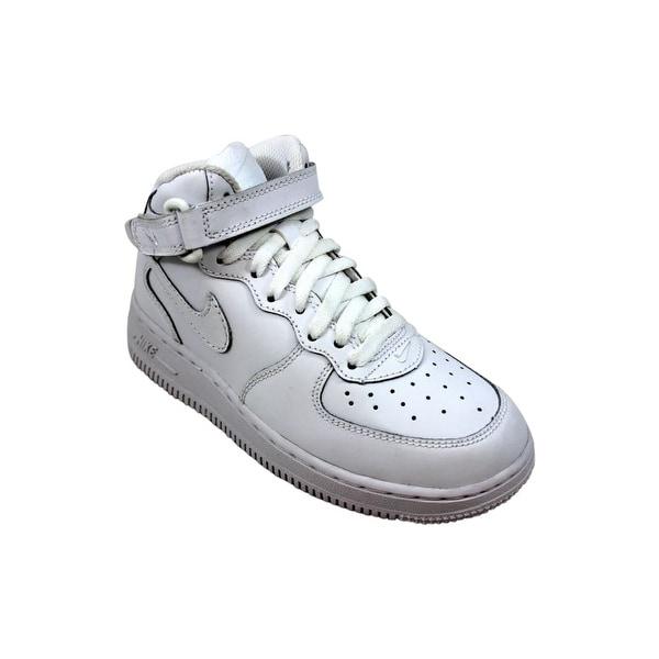 Shop Nike Force 1 Mid WhiteWhite 314196 113 Pre School