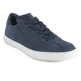Tod's Men's Nubuck Low Top Sneaker Shoes Blue