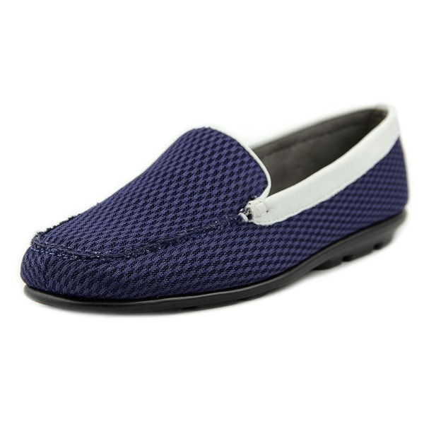 Aerosoles Web Browser Women Blue Wht Flats