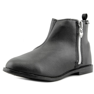 Carter's Cecilia Youth Round Toe Synthetic Black Ankle Boot