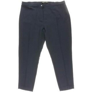 Marina Rinaldi Womens Polyester Solid Trouser Pants - 20