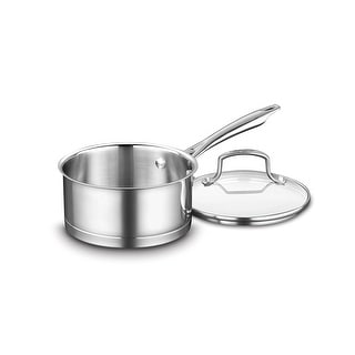 Cuisinart 8919-16 Professional Stainless Saucepan with Cover, 1.5-Quart, Stainless Steel