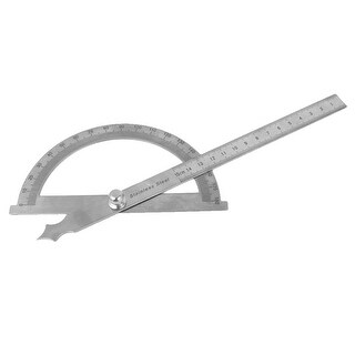 Student Carpenter Architect Round Head Rotary Protractor Angle Ruler Tool