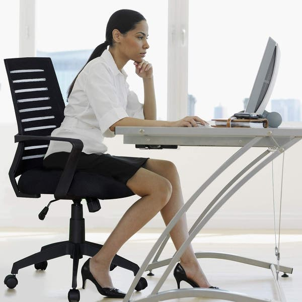 Shop Vecelo Home Office Chairs Adjustable Swivel Chairs Mesh Cushion Chair On Sale Overstock 23159672