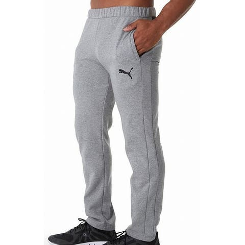 Puma Mens Sweatpants Heather Gray Size Large L DryCell Fleece-Lined
