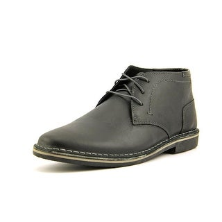 Steve Madden Harken Men  Round Toe Leather Black Chukka Boot