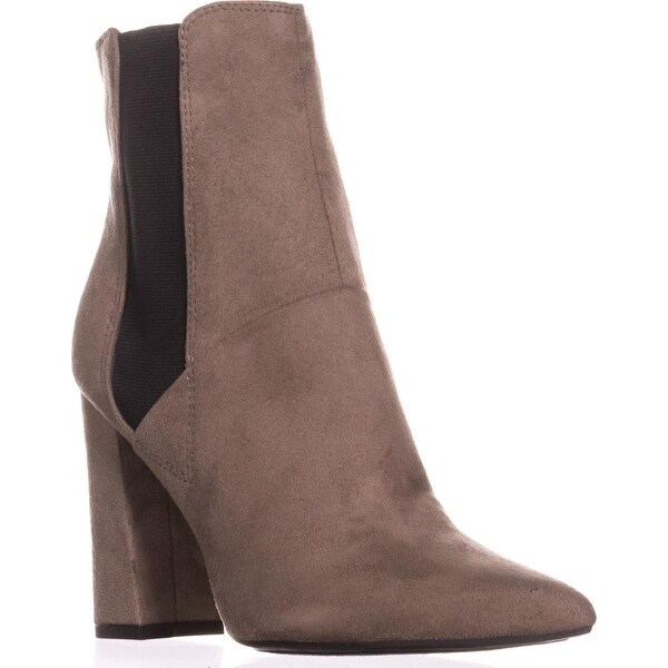 Guess Breki Dress Pointed Toe Pull On Ankle Boots, Dark Gray