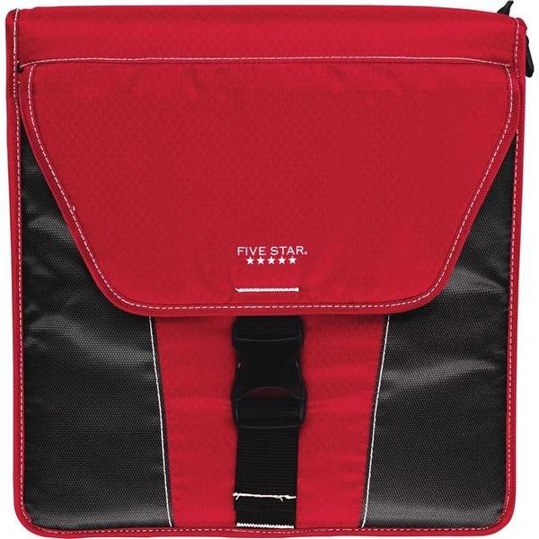 shop five star mea73311 2 in vertical flip zipper binder red