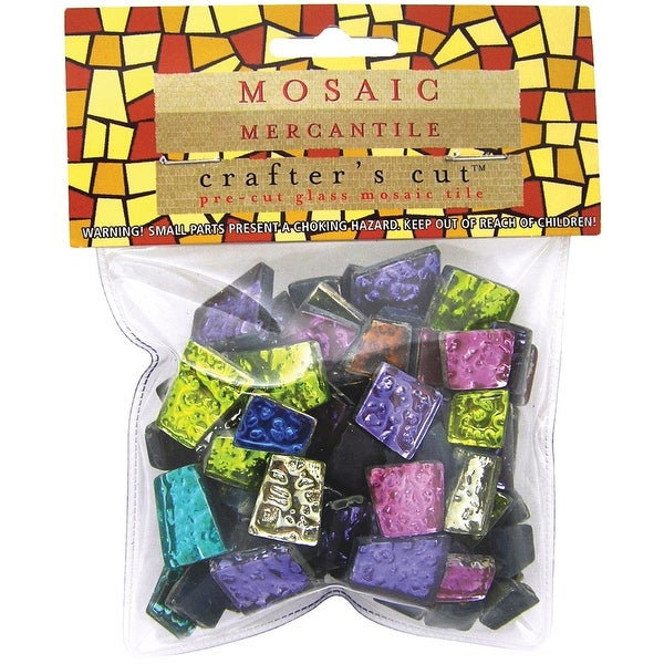 Crafter's Cut Mosaic Tiles .5lb-Assorted Sparkle