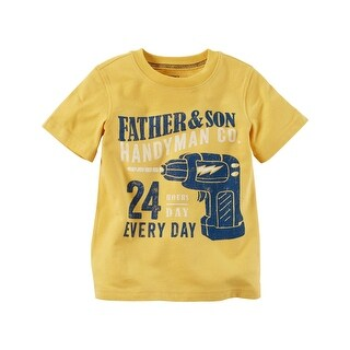 Carter's Little Boys' Handyman Graphic Tee, 4 Kids