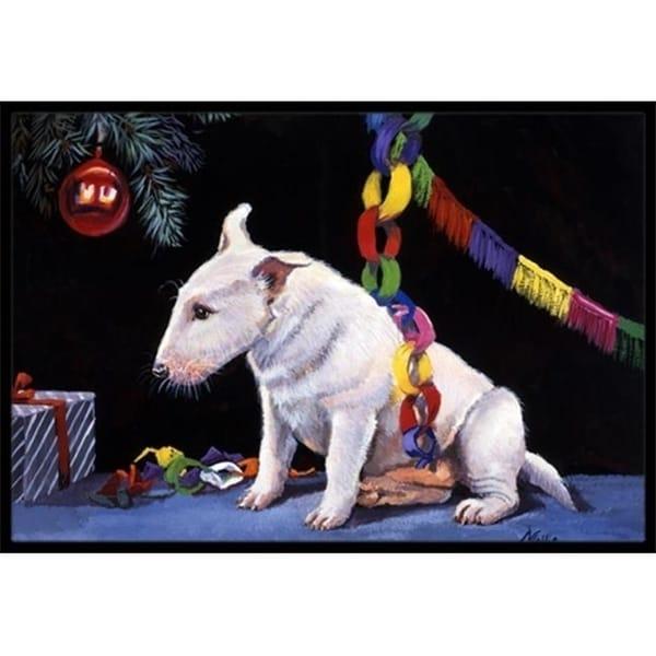 Carolines Treasures FMF0012MAT Bull Terrier Under the Christmas Tree Indoor or Outdoor Mat 18 x 27