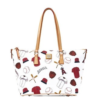 Dooney & Bourke MLB Angels Zip Top Shopper (Introduced by Dooney & Bourke at $248 in Jan 2015) - White