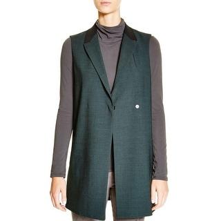 Elie Tahari Womens Caroline Suit Vest Wool Blend Colorblock