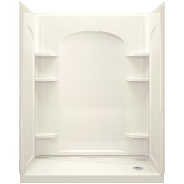 """Sterling 72180120 Ensemble 60"""" 4 Piece Shower Module with Right Hand Drain and Integrated Shelves"""