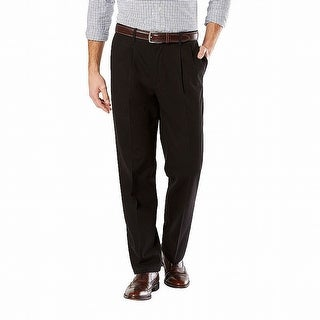 Link to Dockers Mens Pants Solid Black Size 38x31 Pleated Khakis Classic Stretch Similar Items in Big & Tall
