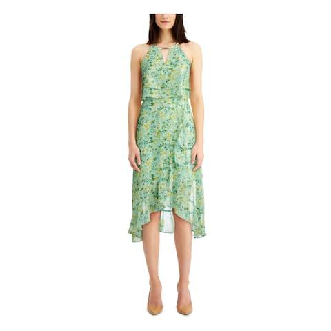 KENSIE Green Sleeveless Below The Knee Dress 12