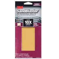 "3M 11120-G-6 SandBlaster Sandpaper with No Slip Grip Backing, 120 Grit, 9"" X 3-2/3"""