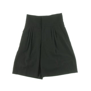 Catherine Malandrino Womens Sample Twill High Waist Dress Shorts - S