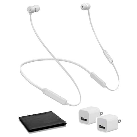 BeatsX In-Ear Bluetooth Headphones (Satin Silver / Icon) with USB