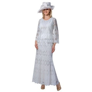 Link to Giovanna Signature 3pc Lux Lace Skirt Suit w/ Scallop Hems Similar Items in Suits & Suit Separates