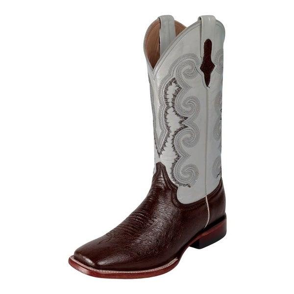 Ferrini Western Boots Mens Cowboy Smooth Ostrich Kango White
